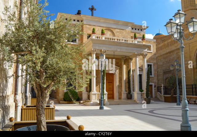 St Geroge's Maronite, Beirut, Beirut, Lebanon - Stock Image