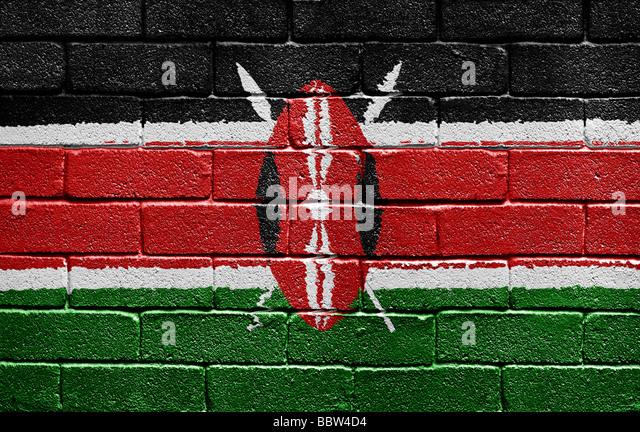 Flag of Kenya - Stock Image