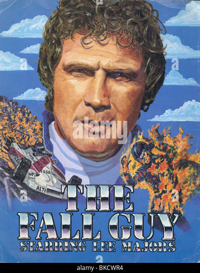 THE FALL GUY (TV) POSTER - Stock Image