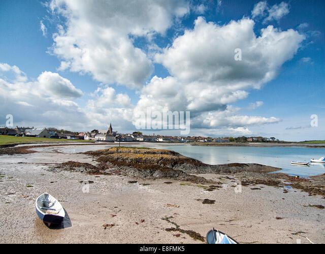 Ballywalter, County Down, Northern Ireland Beach/Village Scene From Northern Ireland - Stock-Bilder