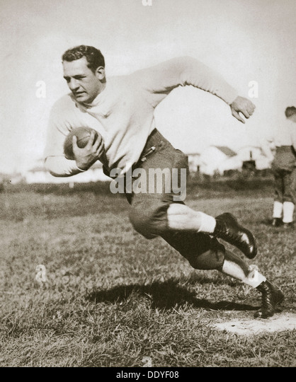Harold Edward 'Red' Grang, American Football player, mid 1920s. Artist: Unknown - Stock Image