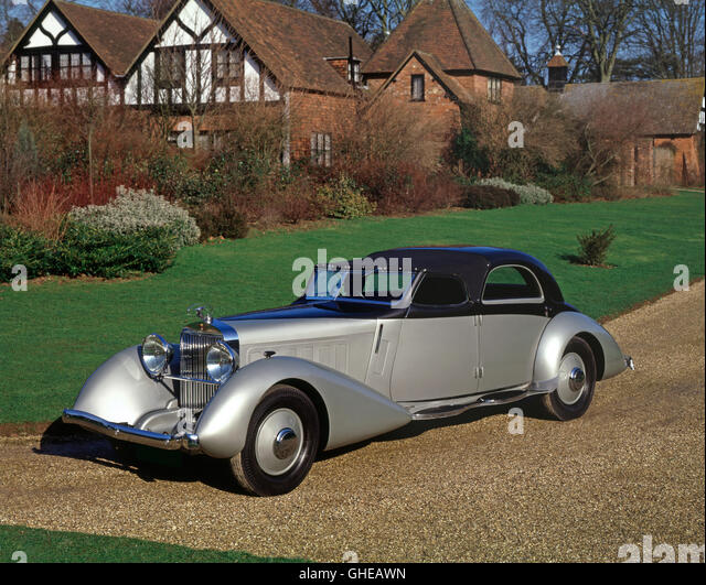 1935 Hispano Suiza K6 Fernandez Darrin Coupe Chauffeur limousine built for Anthony Gustav of the Rothschild banking - Stock Image