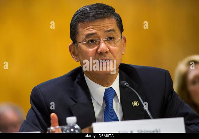 United States Secretary of Veterans Affairs (VA) Eric Shinseki.  - Stock Image