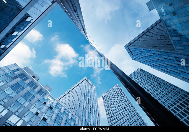 modern business center in hongkong - Stock Image