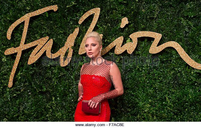 epaselect epa05039009 US singer Lady Gaga arrives at the annual British Fashion Awards held at the Coliseum Theatre - Stock Image
