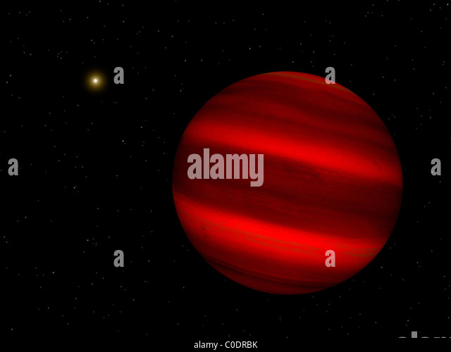 Artist's concept of the brown dwarf Gliese 229 b. - Stock-Bilder