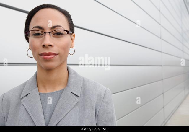 African businesswoman wearing eyeglasses - Stock-Bilder