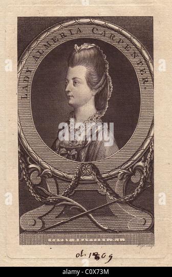 Lady Almeria Carpenter (1752-1809), Irish aristocrat. - Stock Image