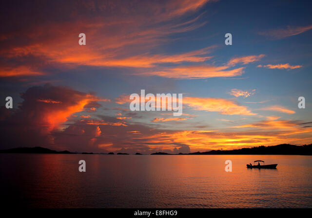 Indonesia, West Papua, Pulau Misool, Misool Island, Evening Calm - Stock Image