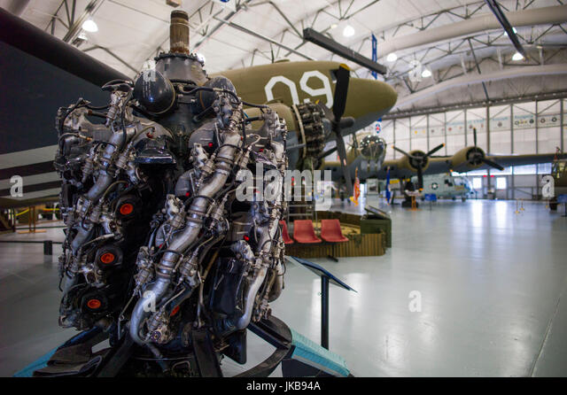 USA, Delaware, Dover, Dover Air Force Base, Air Mobility Command Museum, WW2-era C-47 transport airplane - Stock Image