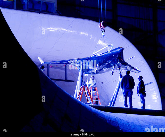 Inspecting X-48B Concept Demonstrator - Stock Image