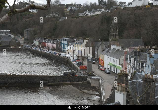 Scotland - Tobermory harbour - Stock Image