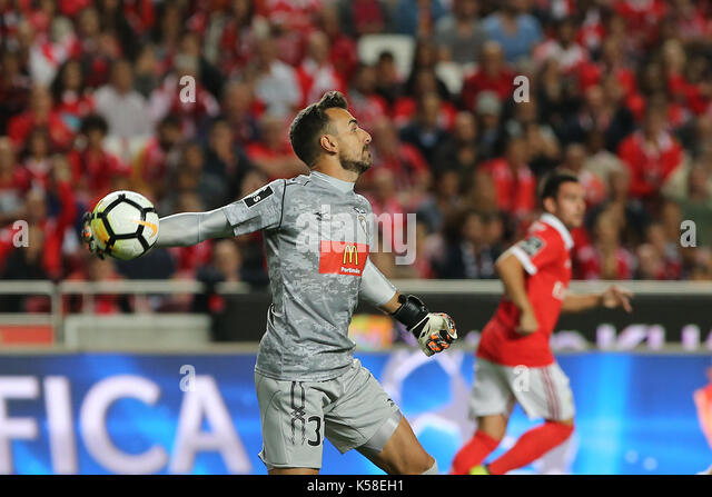 Portimonense«s goalkeeper Ricardo Ferreira from Portugal  during the Premier League 2017/18 match between SL - Stock Image