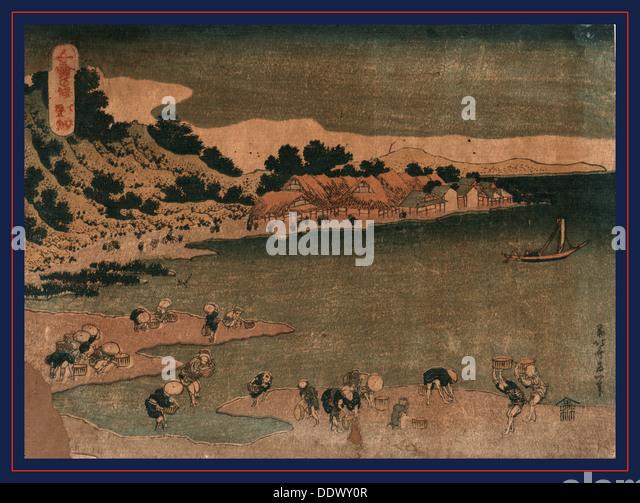 Shimosa nobuto, The coast of Nobuto in Shimosa., Katsushika, Hokusai, 1760-1849, artist, [1833 or 1834], 1 print - Stock Image