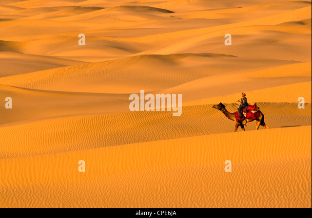 Sam Sand Dunes, Rajasthan, India, Asia - Stock-Bilder