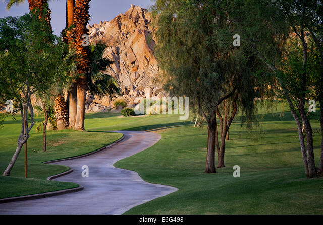 Path at Silver Rock Golf Resort. La Quinta, California - Stock-Bilder