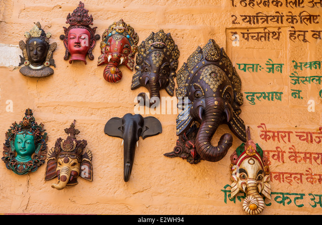 Holy gods in Hinduism in India, Rajastan - Stock Image