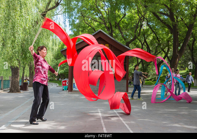 China, Beijing, Peking, City, gymnastics - Stock Image