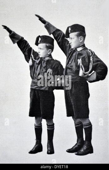 Bruno and  Vittorio Mussolini - Stock Image