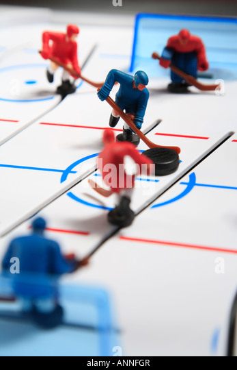 Table hockey concept image - Stock Image