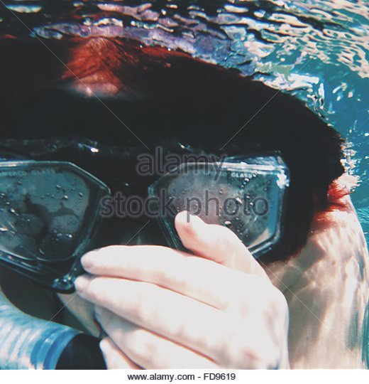 Person Snorkeling Underwater - Stock Image