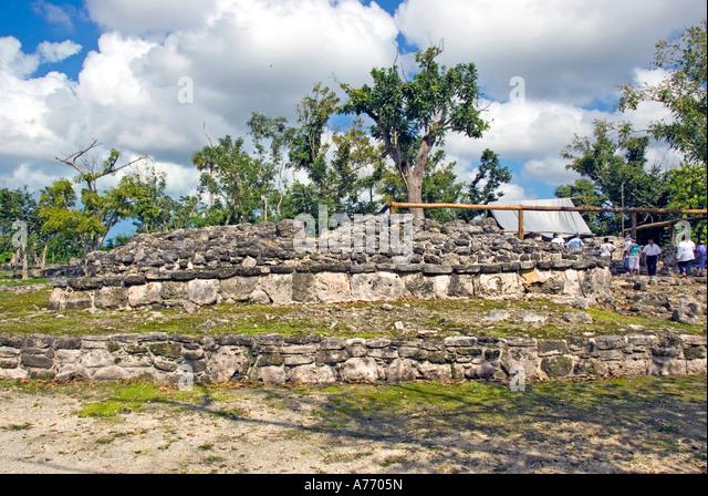 Mexico Cozumel San Gervasio Maya ruins tourist attraction cruise excursion destination - Stock Image