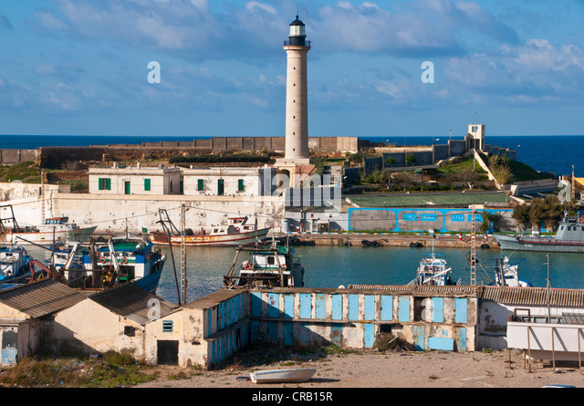 The Port of Cherchell, Algeria, Africa - Stock Image