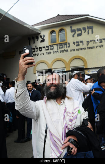 Uman, Ukraine. 20th Sept, 2017. Jewish pilgrimage to the holy site of the tomb of the Rabi Nachman of Breslov Credit: - Stock Image