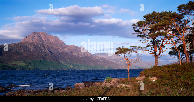 Slioch and Loch Maree, Wester Ross, Highland, Scotland, UK. - Stock Image
