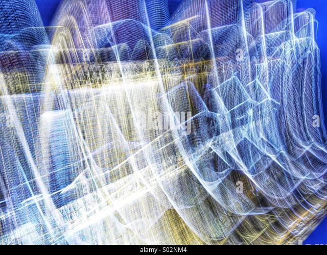 Electro Light Trails - Stock Image