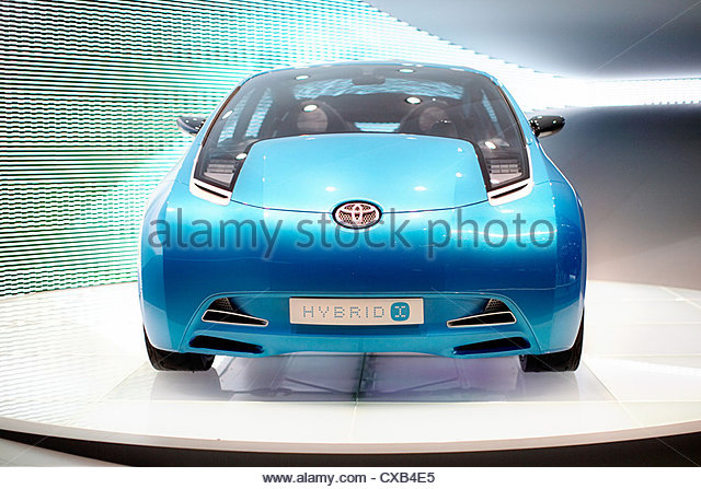 Geneva Motor Show 2007, the world premiere of Toyota Hybrid X - Stock Image
