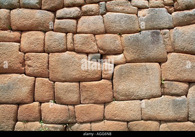 ancient Inka wall, Cuzco, Peru - Stock Image