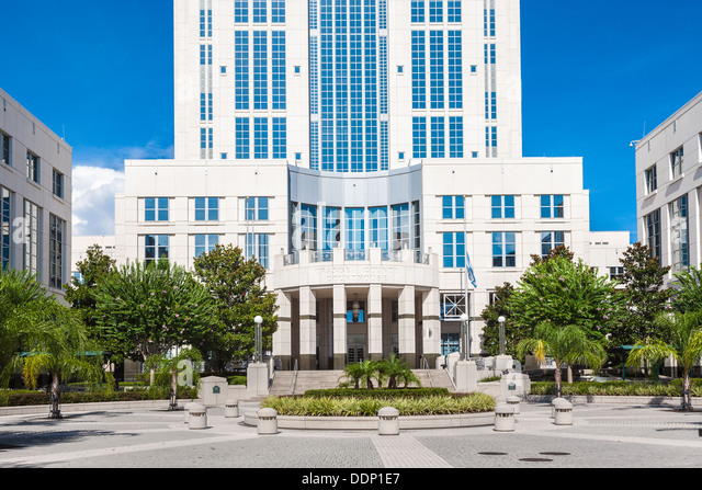 Orange County Courthouse in downtown Orlando, Florida - Stock Image
