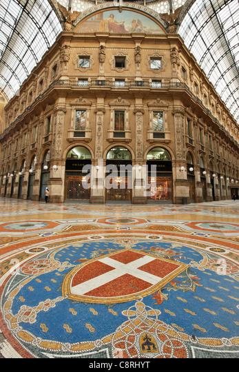 Vittorio Emanuele II Gallery. Milan, Italy. - Stock Image
