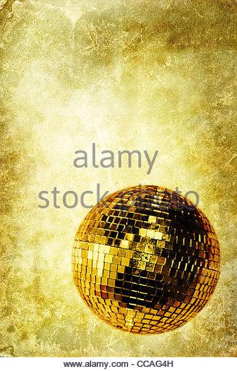 vintage disco ball - Stock Image