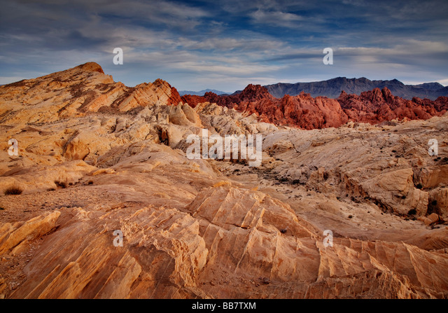 The Valley Of Fire near Las Vegas in Nevada USA - Stock-Bilder