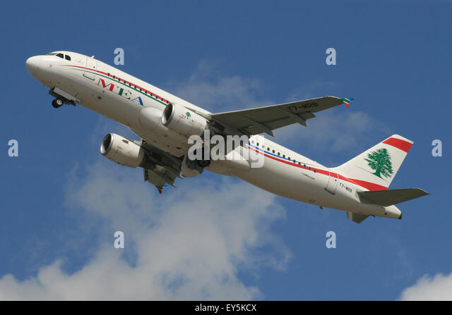 MEA A320 LEBANON MIDDLE EASTERN BEIRUT - Stock Image