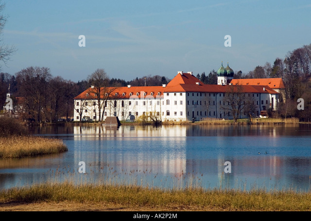 Benedictine Abbey Seeon, Seeon-Seebruck - Stock Image