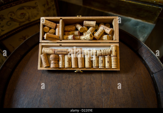 Vintage corks - Stock Image