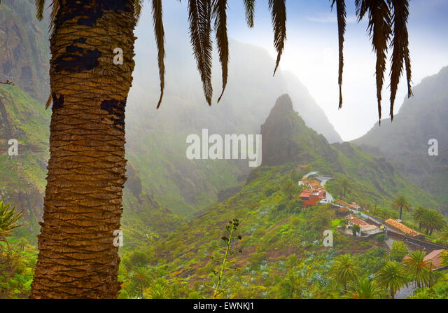 Tenerife - Masca village, Canary Islands, Spain - Stock Image