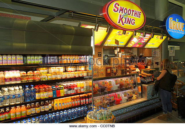 Louisiana New Orleans Louis Armstrong New Orleans International Airport MSY terminal concession restaurant chain - Stock Image
