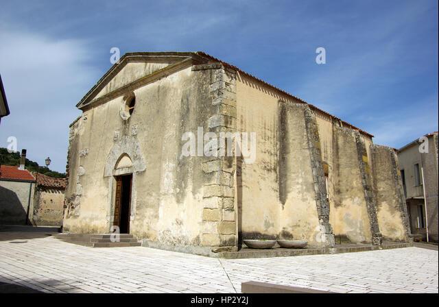 Torralba, Sardinia. Santa Croce church - Stock Image