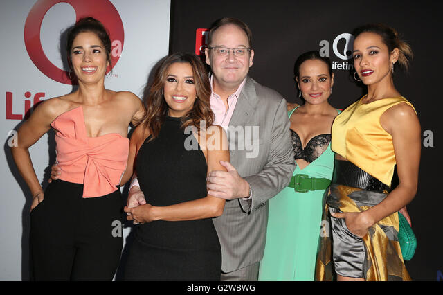 Los Angeles, CA, USA. 2nd June, 2016. 02 June 2016 - Los Angeles, California - Ana Ortiz, Eva Longoria, Marc Cherry, - Stock Image