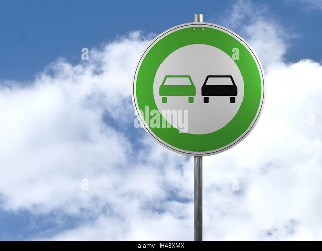 Road sign, environmentally friendly car technology, road sign, green, environmentally friendly, car, computer graphics, - Stock Image