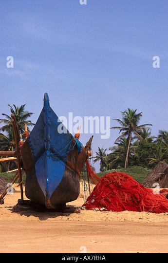 Fischerboote, Strand von Calangute Goa, Indien - Stock-Bilder