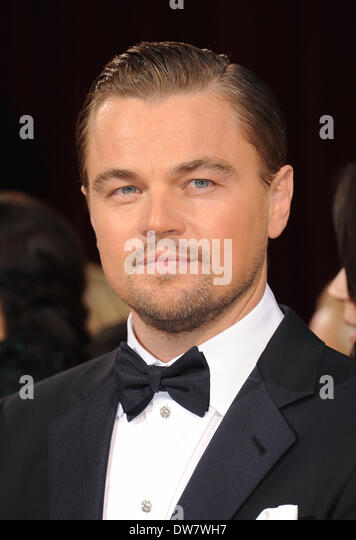 Hollywood, California, USA. 2nd Mar, 2014. LEONARDO DICAPRIO, a nominated for an Oscar for best actor in a leading - Stock Image