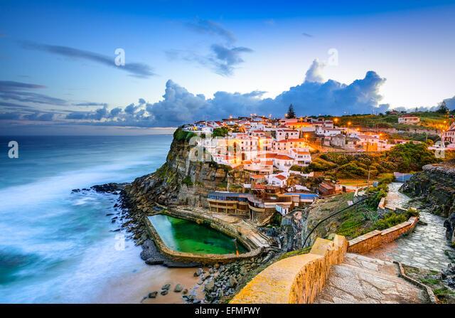 Azenhas do Mar, Portugal coastal town. - Stock Image