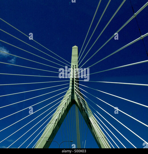 Zakim Bridge, Boston - Stock Image