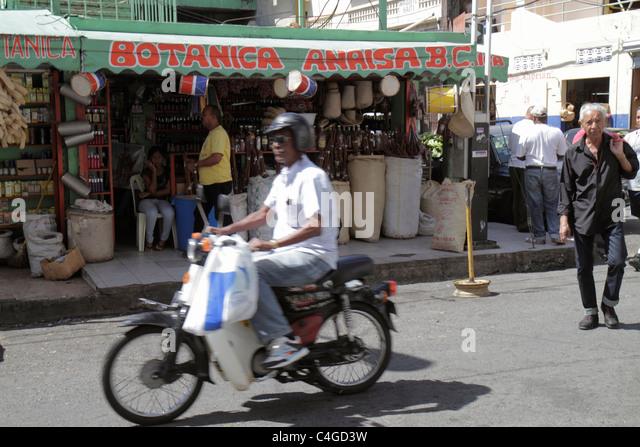 Santo Domingo Dominican Republic Ciudad Colonia Mercado Modela market business Hispanic Black botanica African afro - Stock Image