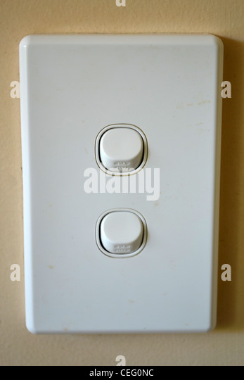 light switch - Stock Image